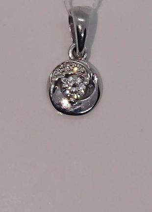 Миленький искристый кулон подвеска бриллиант белое золото 585 видео
