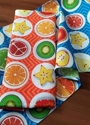 Набор красивых больших кухонных полотенец - отличный подарок