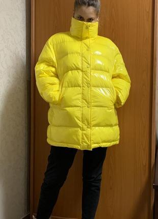 Куртка пуховик жёлтая wem ltb oversize