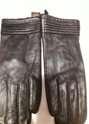 Новые кожанные перчатки с утеплителем  размер 8