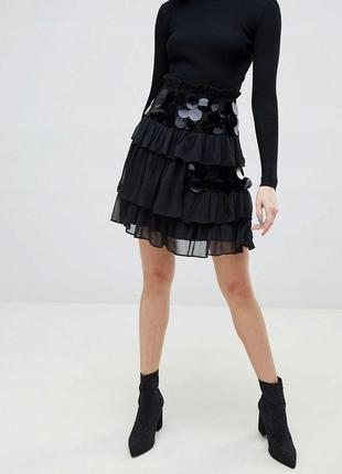 Шифонова сукня у великі пайєтки