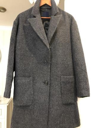 Пальто 100 % альпака италия !!