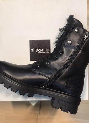 Зимние ботинки берцы толстая подошва италия nila&nila