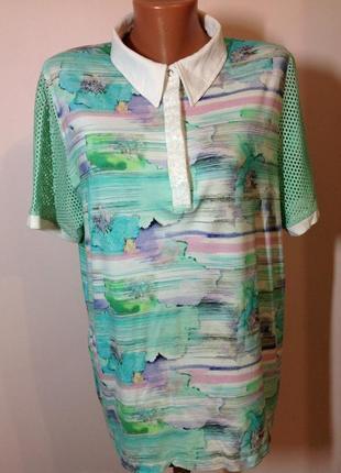 Вискозная оригинальная блузка . /48/ brend mona