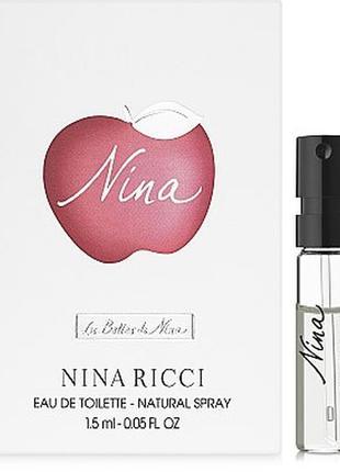 Nina ricci nina, edt, пробник 1,5 ml, оригинал.