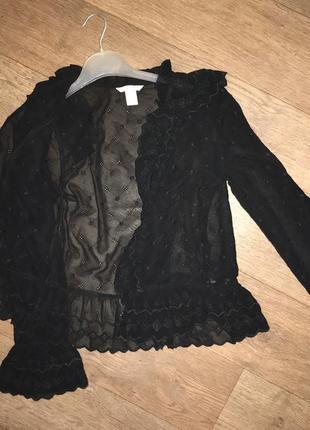 Чёрная прозрачная блузка