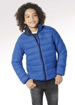 Стильная стеганная термо куртка на мальчика, рост 152 (в упаковке).