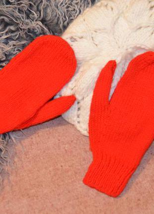 красные вязаные варежки цена 60 грн 3359309 купить по
