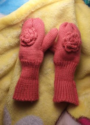 Дитячі зимові рукавички для дівчинки