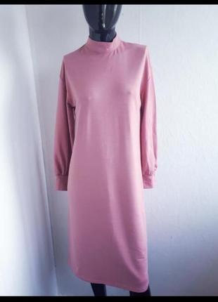 )прямое платье over size с рукавом
