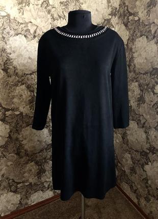 Замшевое платье, платье, сукня, красивое платье, деловое платье