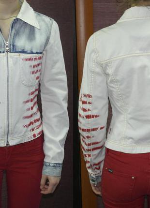 Стильный джинсовый пиджак indian rose жакет курточка ветровка летняя