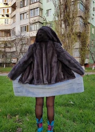 Шуба норковая дизайнерская. шита по каталогу.