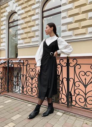 Базовое платье на запах разные цвета