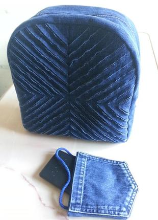 Рюкзак джинсовый, эксклюзивная ручная работа