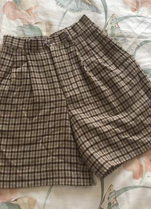 Шерстяные шорты с защипами 🌸 yves saint laurent max mara