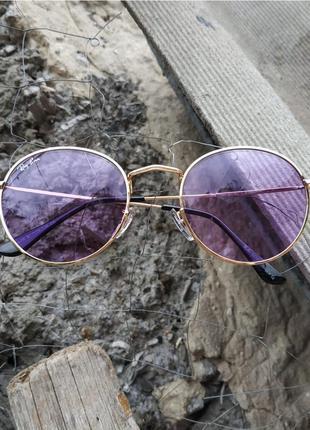 Фиолетовые имиджевые цветные очки для имиджа, фиолетовые линзы, окуляри для іміджу
