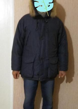 Фирменная куртка-пуховик большого размера