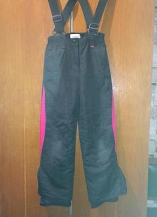 Теплые брюки штаны комбинезон 6-7 лет