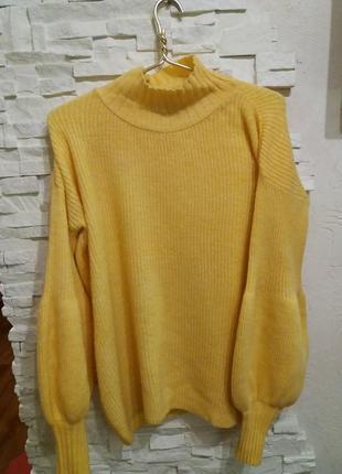 Roket plus теплый свитер оверсайз с объемными рукавами