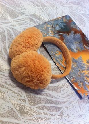 Accessorize меховые наушники яркий модный аксессуар складываются мех сьемный