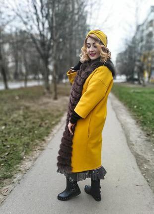 Зимнее пальто с мехом песца, горячая цена к новому году
