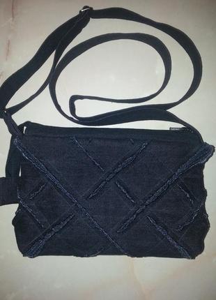 Джинсовая сумочка, эксклюзивная ручная работа, кросс боди
