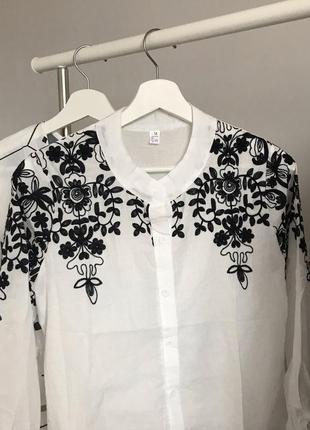 #розвантажуюсь нежная белая блуза с вышивкой2 фото
