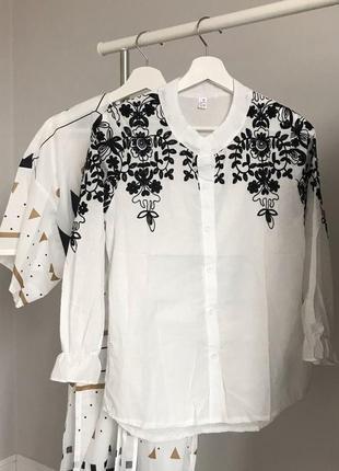 #розвантажуюсь нежная белая блуза с вышивкой3 фото