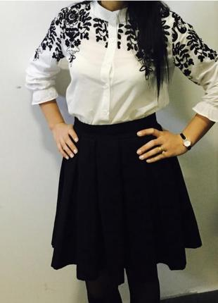 #розвантажуюсь нежная белая блуза с вышивкой5 фото