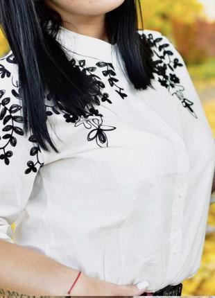 #розвантажуюсь нежная белая блуза с вышивкой4 фото