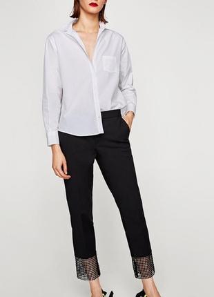 Шикарные брендовые брюки с кружевом