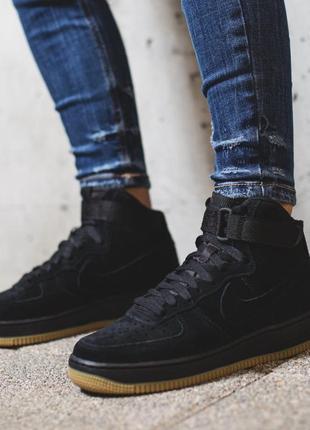 Кроссовки,ботинки  кожаные nike air forse.сезон 2019