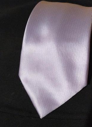 Лавандовый сиреневый шелковый галстук