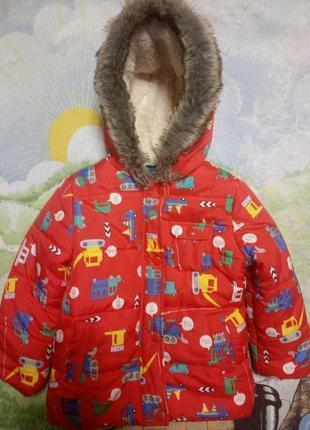 92-98см куртка пуховик зима mothercare