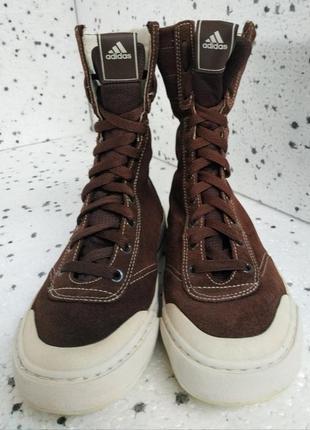 Женские оригинальные демисезонные высокие замшевые кеды adidas
