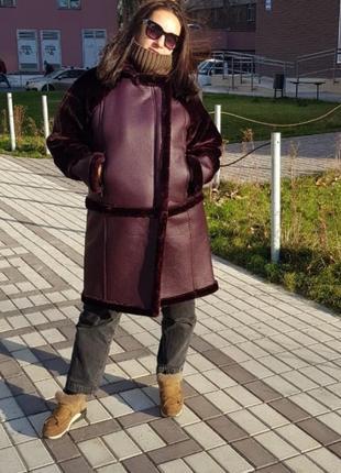 Дубленка из эко меха/ зимняя куртка / теплое пальто