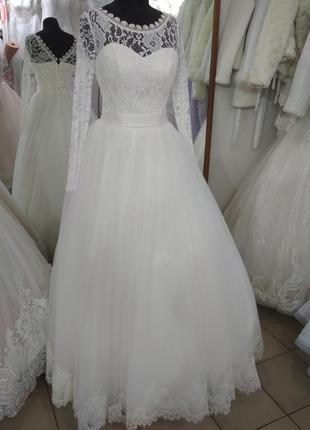 Свадебное новое платье айвори пышное 36 размер