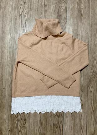 Вязаный свитер-рубашка