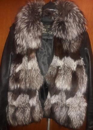 Кожаная куртка трансформер