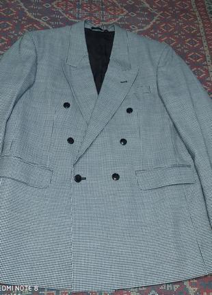 Пиджак черный с белым гусиная лапка moorcroft