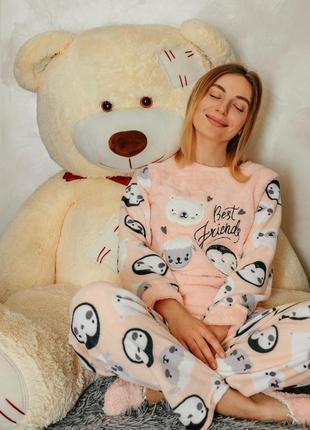 Тёплая женская пижама