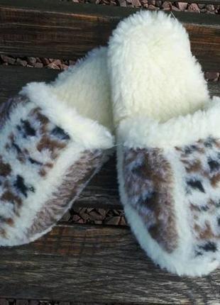 Тапочки для дома тапки на овчине