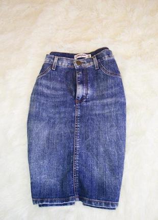 Джинсовая юбка, юбка-карандаш, юбка до колена