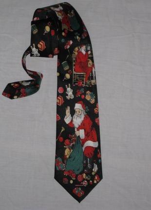 Яркий новогодний галстук