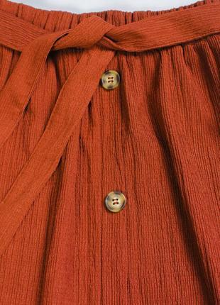 Юбка миди коричневая, прямая юбка ниже колена4 фото