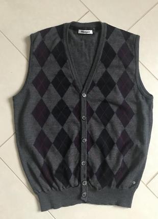 Безрукавка шерстяная мужская дорогой бренд германии burlington размер 50