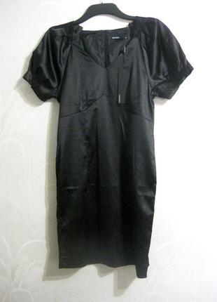 Платье футляр vero moda миди чёрное как шёлк строгое деловое офис вечернее