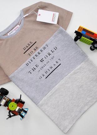 Фирменная футболка  minoti  💓размер 7-8 лет (замеры в личку) 💲цена2️⃣6️⃣0️⃣