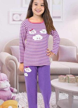 Пижама для девочки cloud. фиолетовая.